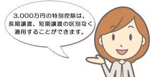 住居用財産3,000万円の特別控除